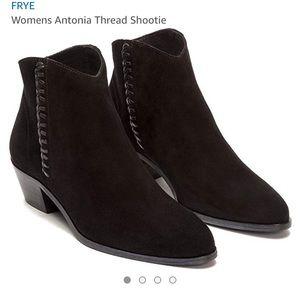 NWOB Frye Antonia Thread Shootie Black Ankle Boot